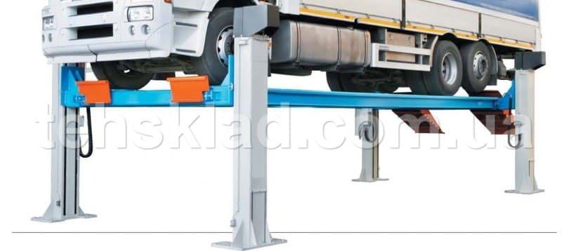 электромеханический подъемник для автосервиса